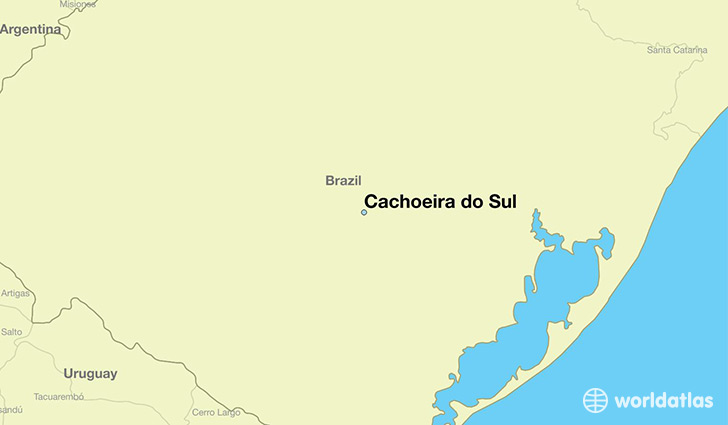 map showing the location of Cachoeira do Sul