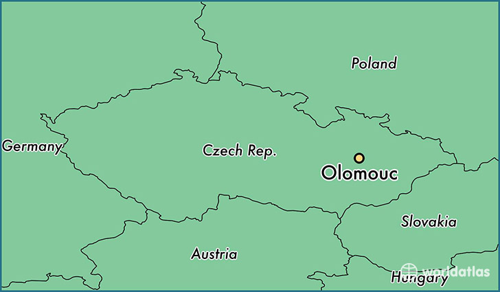 map showing the location of Olomouc