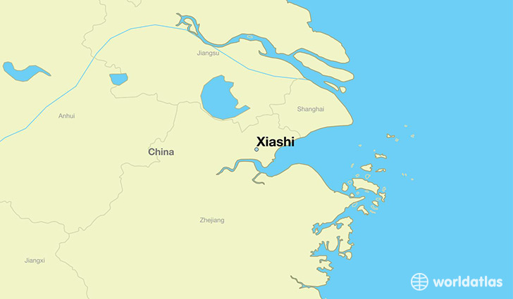 map showing the location of Xiashi
