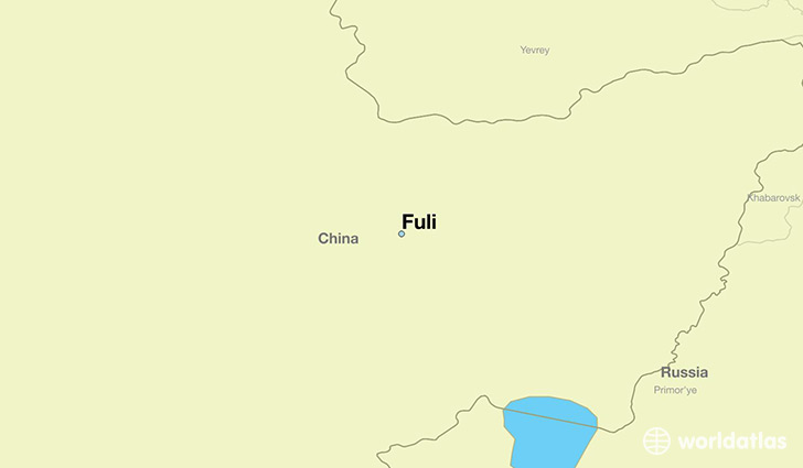 map showing the location of Fuli