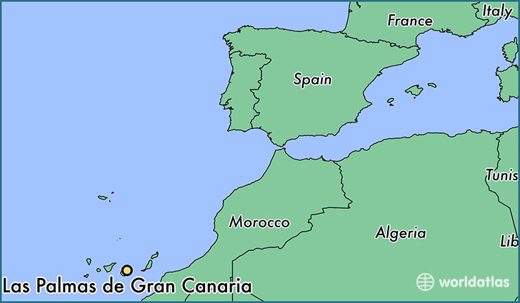 Map Gran Canaria Where is Las Palmas de Gran Canaria, Spain? / Las Palmas de Gran