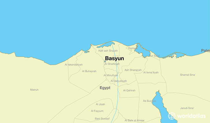 map showing the location of Basyun