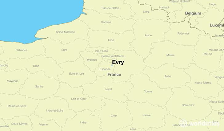 where is evry france evry ile de france map. Black Bedroom Furniture Sets. Home Design Ideas