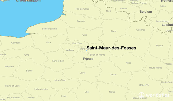 where is saint maur des fosses france saint maur des fosses ile de france map. Black Bedroom Furniture Sets. Home Design Ideas