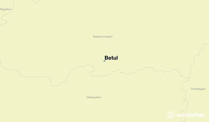 map showing the location of Betul
