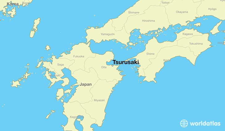 Where is Tsurusaki Japan Tsurusaki Oita Map WorldAtlascom