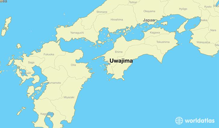 Where is uwajima japan uwajima ehime map worldatlas map showing the location of uwajima gumiabroncs Gallery