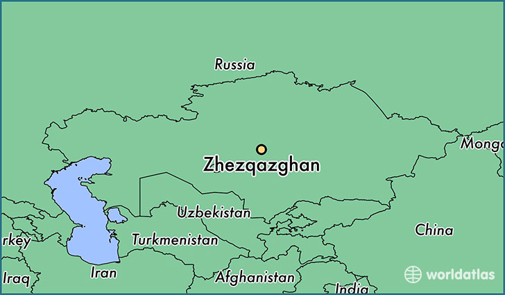map showing the location of Zhezqazghan