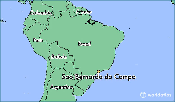 map showing the location of Sao Bernardo do Campo
