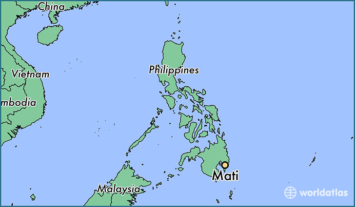 map showing the location of Mati