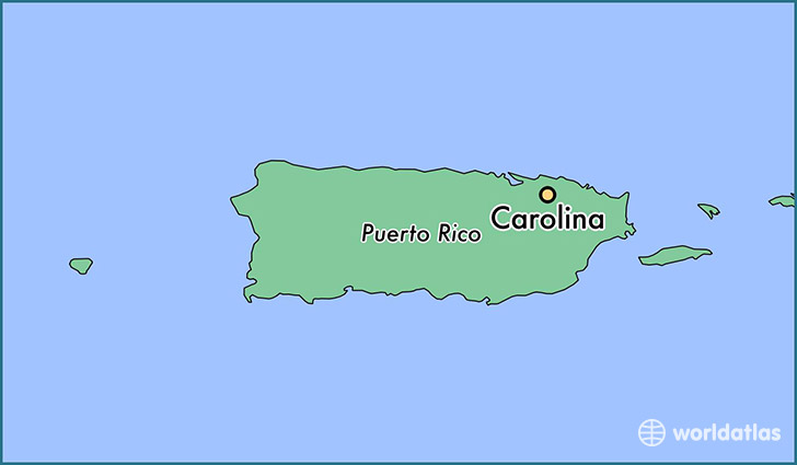 map showing the location of Carolina