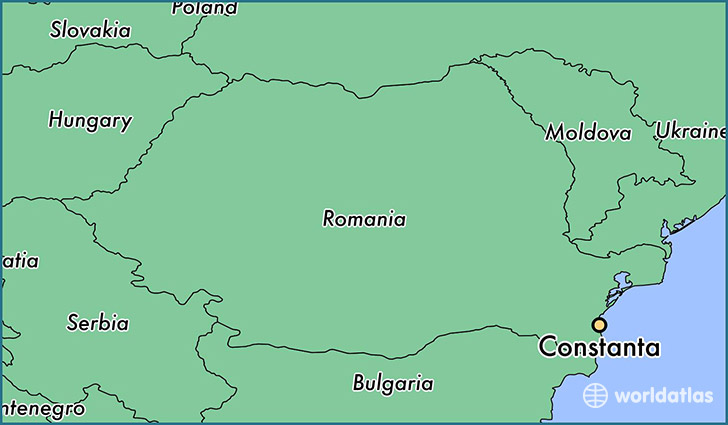 Where is Constanta Romania Constanta Constanta Map WorldAtlascom
