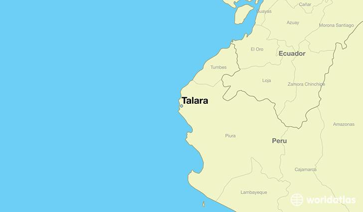 Where Is Talara Peru Talara Piura Map Worldatlas Com