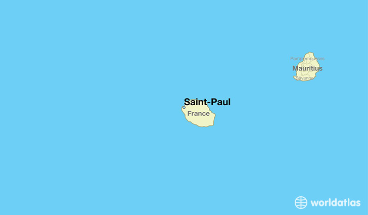 map showing the location of Saint-Paul