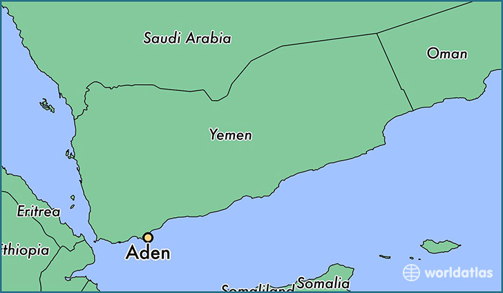 Where is Aden Yemen Aden Al Jawf Map WorldAtlascom
