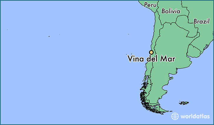 map showing the location of Vina del Mar