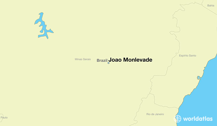 map showing the location of Joao Monlevade