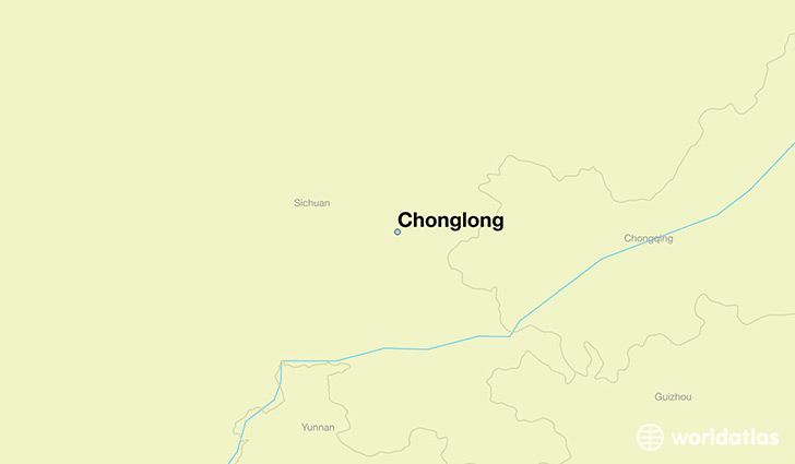 map showing the location of Chonglong