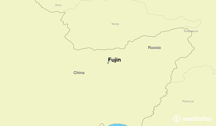 map showing the location of Fujin