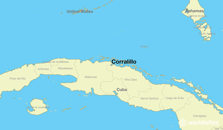 map showing the location of Corralillo