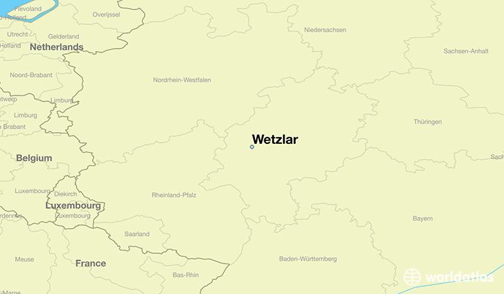 map showing the location of Wetzlar