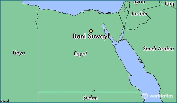 map showing the location of Bani Suwayf