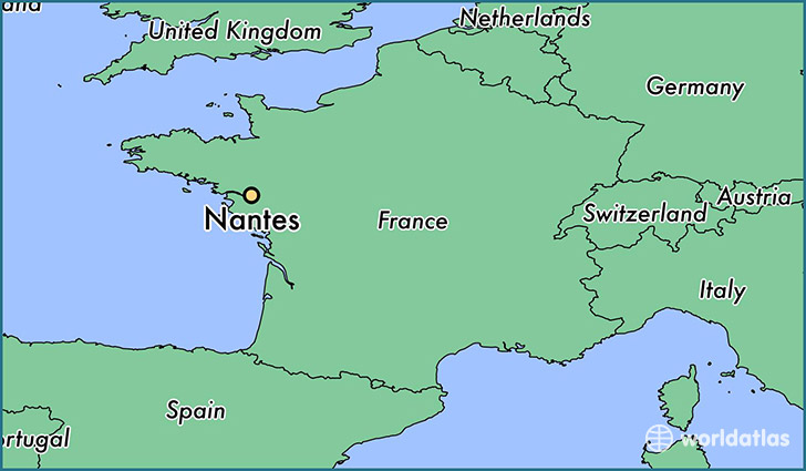 where is nantes france nantes pays de la loire map. Black Bedroom Furniture Sets. Home Design Ideas