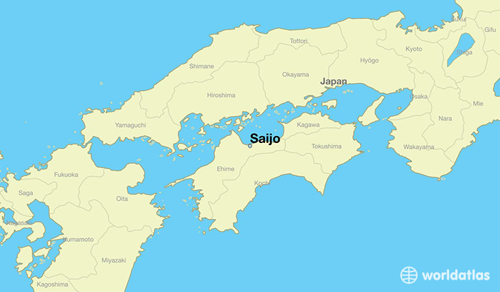 map showing the location of Saijo