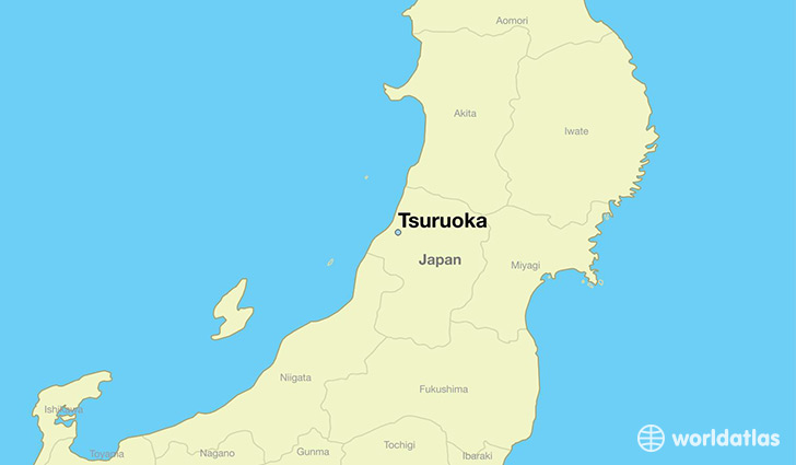 map showing the location of Tsuruoka