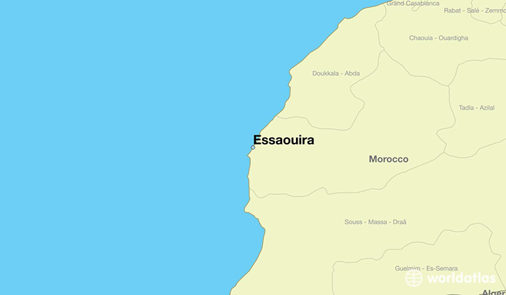 map showing the location of Essaouira