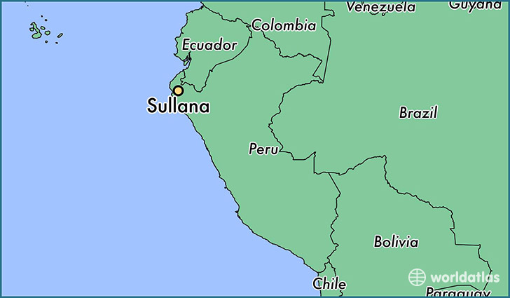 map showing the location of Sullana