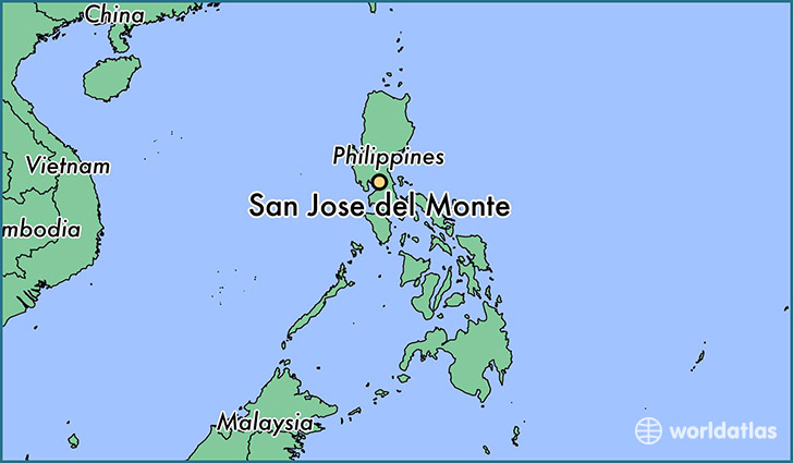 map showing the location of San Jose del Monte