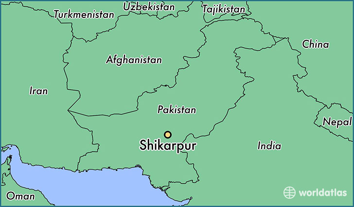 map showing the location of Shikarpur