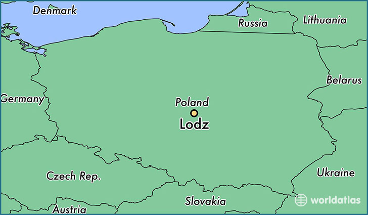 map showing the location of Lodz