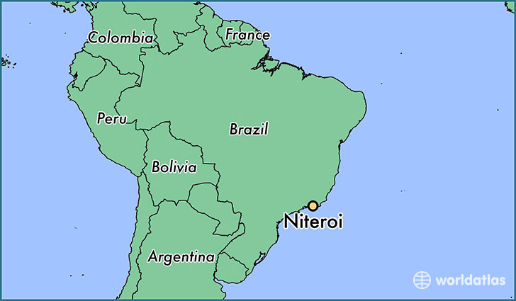 map showing the location of Niteroi