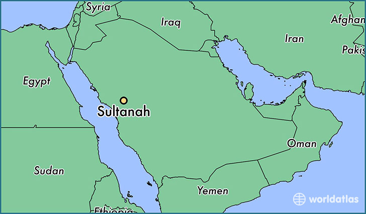 map showing the location of Sultanah