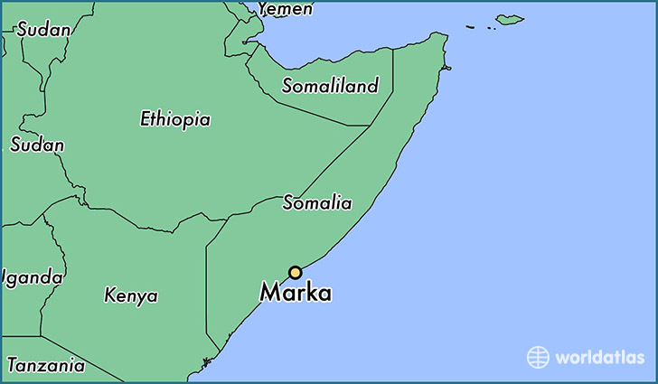 map showing the location of Marka
