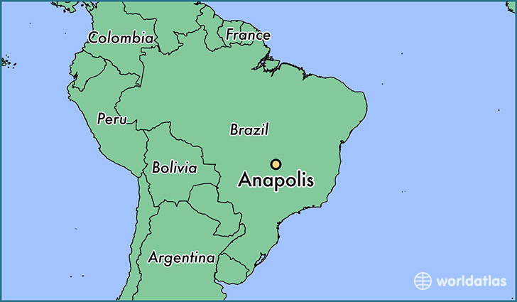 Where Is Anapolis Brazil Anapolis Goias Map WorldAtlascom - Anápolis map