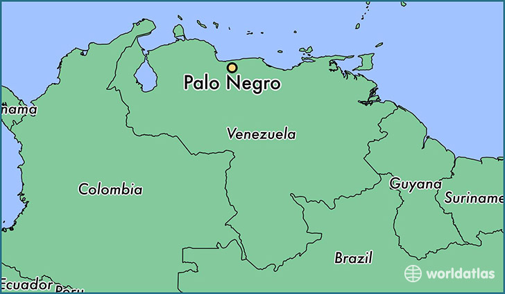 map showing the location of Palo Negro