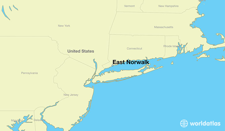 map showing the location of East Norwalk