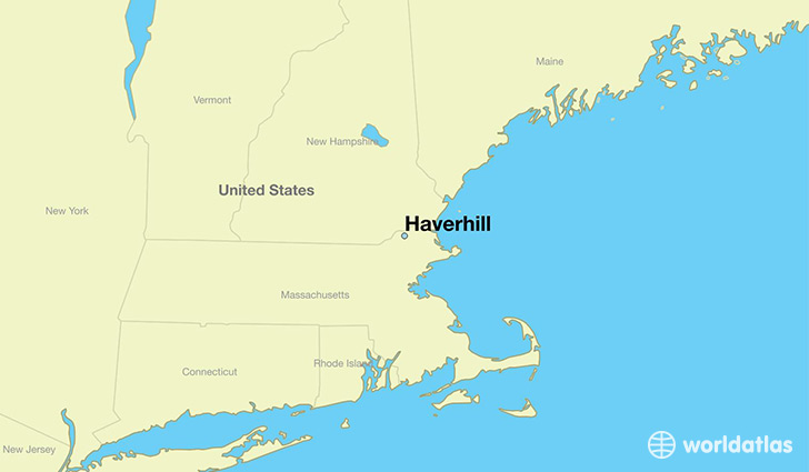 map showing the location of Haverhill