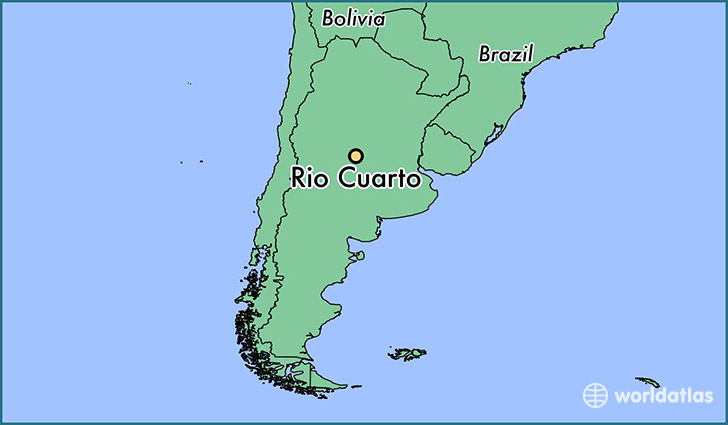 map showing the location of Rio Cuarto