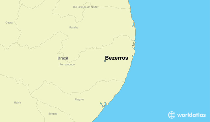 map showing the location of Bezerros
