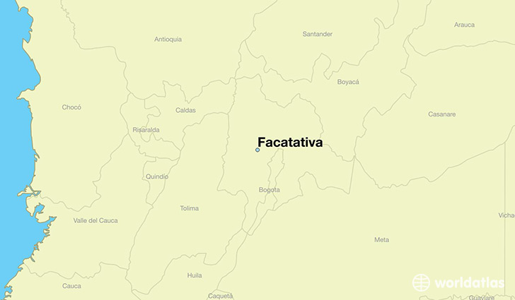 map showing the location of Facatativa