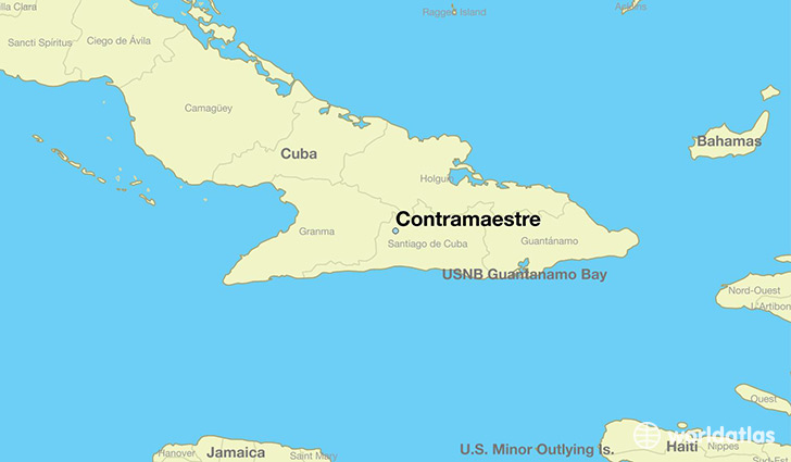 map showing the location of Contramaestre