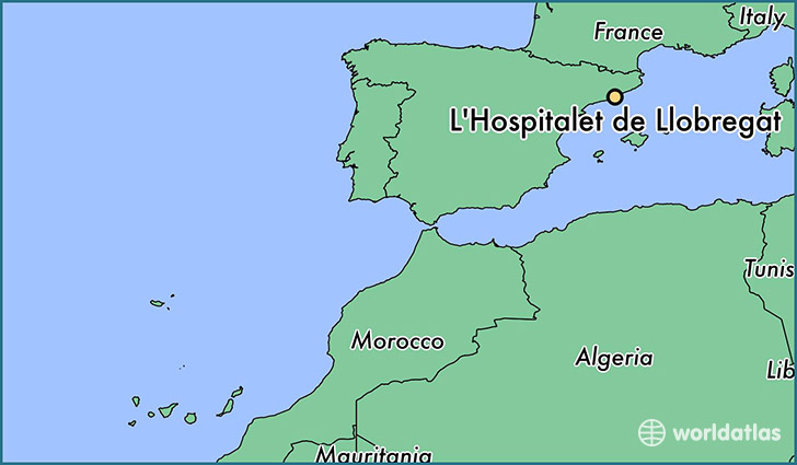 map showing the location of L'Hospitalet de Llobregat