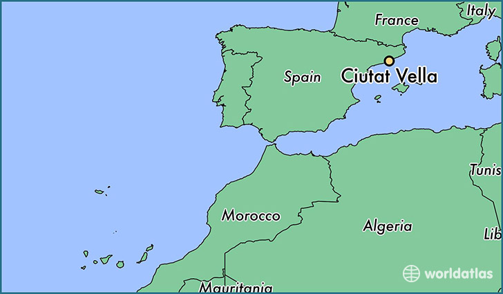 map showing the location of Ciutat Vella