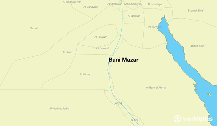 map showing the location of Bani Mazar