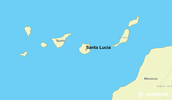 map showing the location of Santa Lucia