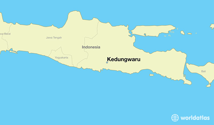 map showing the location of Kedungwaru